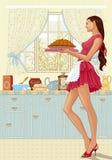 Empanada cocinada stock de ilustración
