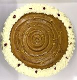 Empanada cremosa del caramelo Imagen de archivo libre de regalías