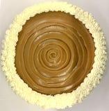 Empanada cremosa del caramelo Fotografía de archivo