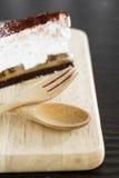 Empanada de Banoffee en la placa de madera Foto de archivo libre de regalías