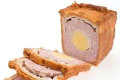 Empanada de cerdo con el huevo Fotografía de archivo libre de regalías