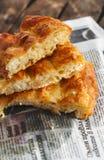 Empanada de Filo con los huevos y el queso /Banitsa/ Imagen de archivo