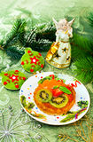 Empanada de la fruta de postre de la Navidad Fotos de archivo libres de regalías