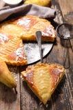 Empanada de la pera con las almendras Foto de archivo