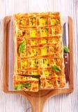 Empanada de los pasteles del shortcrust del queso y de la espinaca Imagen de archivo