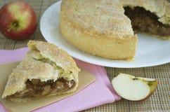 Empanada de manzana americana Fotografía de archivo
