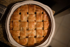 Empanada de manzana cocida al horno Fotografía de archivo