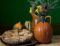 Empanada de manzana de la acción de gracias Fotografía de archivo libre de regalías