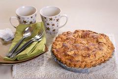 Empanada de manzana entera Fotografía de archivo