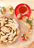 Empanada de manzana hecha en casa Imagen de archivo libre de regalías