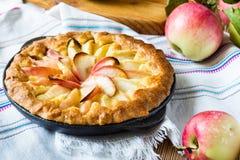 Empanada de manzana hecha en casa Foto de archivo libre de regalías