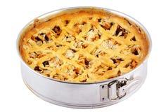 Empanada de manzana hecha en casa. Imagenes de archivo