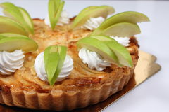 Empanada de manzana hecha en casa con la manzana fresca imagen de archivo libre de regalías