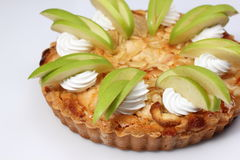 Empanada de manzana hecha en casa con la manzana fresca Foto de archivo libre de regalías