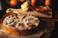 Empanada de manzana hecha a mano Fotos de archivo libres de regalías