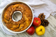 Empanada de manzana otoñal Imagenes de archivo