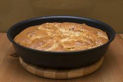 Empanada de manzana Toasty en la cacerola Fotografía de archivo