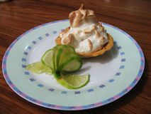 Empanada de merengue de limón Imagen de archivo libre de regalías