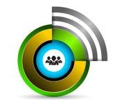 Empanada del círculo con el icono del hombre de negocios Imagen de archivo libre de regalías