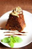 Empanada del chocolate con la nuez Fotos de archivo libres de regalías