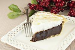 Empanada del merengue del chocolate Imagen de archivo libre de regalías