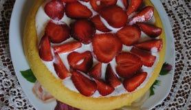 Empanada deliciosa de la fresa Foto de archivo libre de regalías