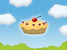 Empanada en el cielo stock de ilustración