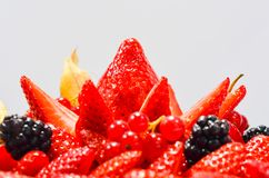 Empanada fresca de las fresas de la American National Standard de las frambuesas Imagen de archivo