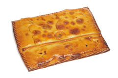 Empanada gallega. Closeup of an empanada gallega, a typical cake stuffed with tuna or meat, from Galicia, Spain Royalty Free Stock Image