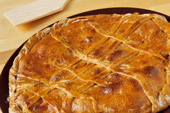 Empanada gallega, savory stuffed cake typical of Galicia, Spain Royalty Free Stock Photo