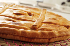 Empanada gallega, savory stuffed cake typical of Galicia, Spain Stock Photo