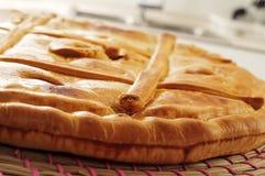 Empanada gallega, välsmakande välfylld kaka som är typisk av Galicia, Spanien Arkivfoto