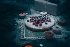 Empanada hecha en casa de la Navidad Foto de archivo