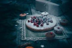 Empanada hecha en casa de la Navidad Imagen de archivo