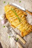 Empanada hecha en casa de los pescados Imágenes de archivo libres de regalías