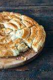 Empanada hecha en casa del queso Fotos de archivo
