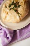 Empanada hecha en casa del queso imagen de archivo libre de regalías