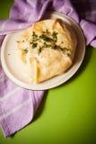 Empanada hecha en casa del queso fotografía de archivo libre de regalías