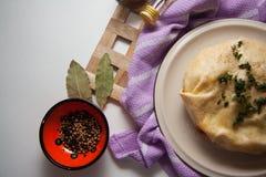 Empanada hecha en casa del queso fotografía de archivo