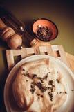 Empanada hecha en casa del queso imagen de archivo