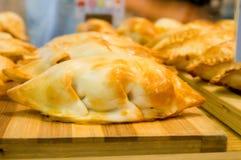 Empanada. Hecha en casa, homemade stock photo