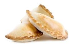 Empanada a isolé sur le blanc Photo libre de droits