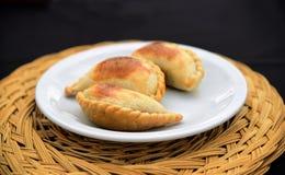 Empanada, mięsny kulebiak fotografia stock