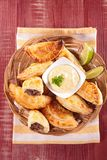 Empanada mit Rindfleisch Stockbild