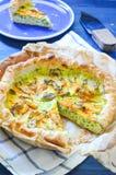 Empanada sabrosa con ricotta, parmesano y el calabacín Imagen de archivo libre de regalías