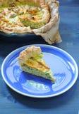 Empanada sabrosa con ricotta, parmesano y el calabacín Foto de archivo