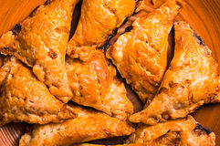 Empanada, samsa comme fond Photos stock