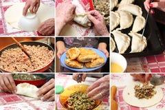 Empanada. Some stages to cook homemade empanada Stock Photos
