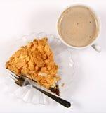 Empanada y café foto de archivo