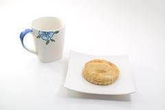 Empanada y café del atún Imagen de archivo